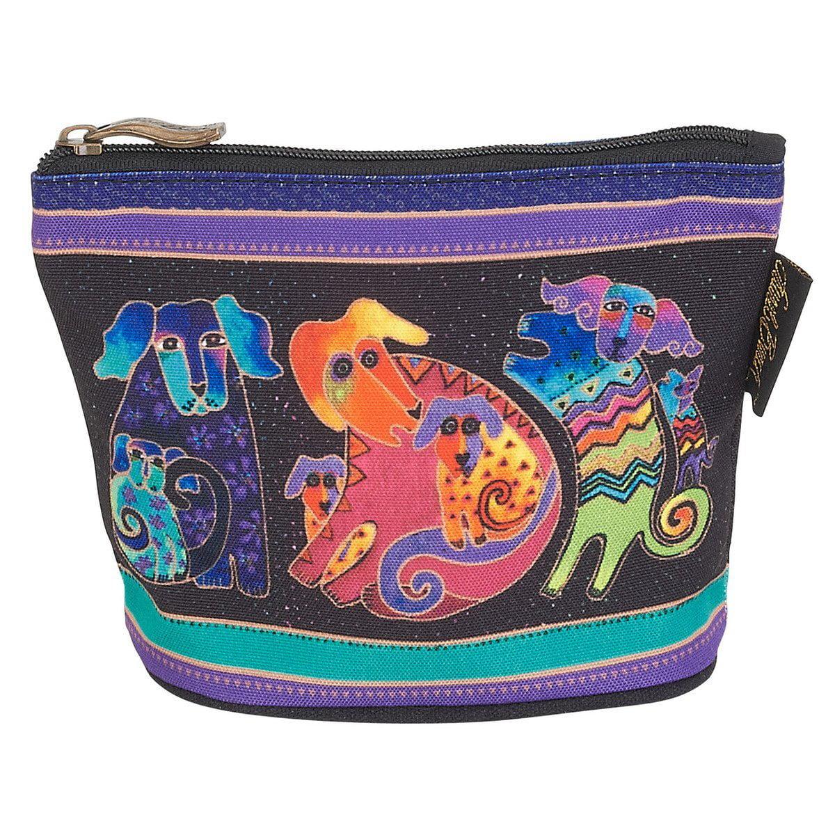 Laurel Burch - Laurel Burch Dog Cotton Canvas Cosmetic Bag ...