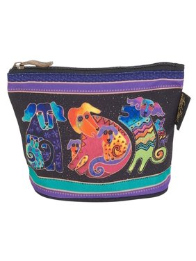 d5ff5f622af Product Image Laurel Burch Dog Cotton Canvas Cosmetic Bag Canine Friends