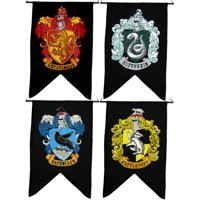 Harry Potter HOUSE WALL 4 BANNER SET Ravenclaw Slytherin Hufflepuff Gryffindor