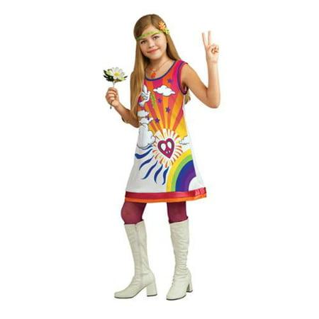 Rubies Kids Girls 60s 70s Retro Hippy Hippie Halloween Costume (Girls 70s)