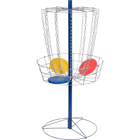 Portable Metal Disc Frisbee Golf Goal Set Comes with 9 Discs - By Trademark Innovations](Frisbees Bulk)