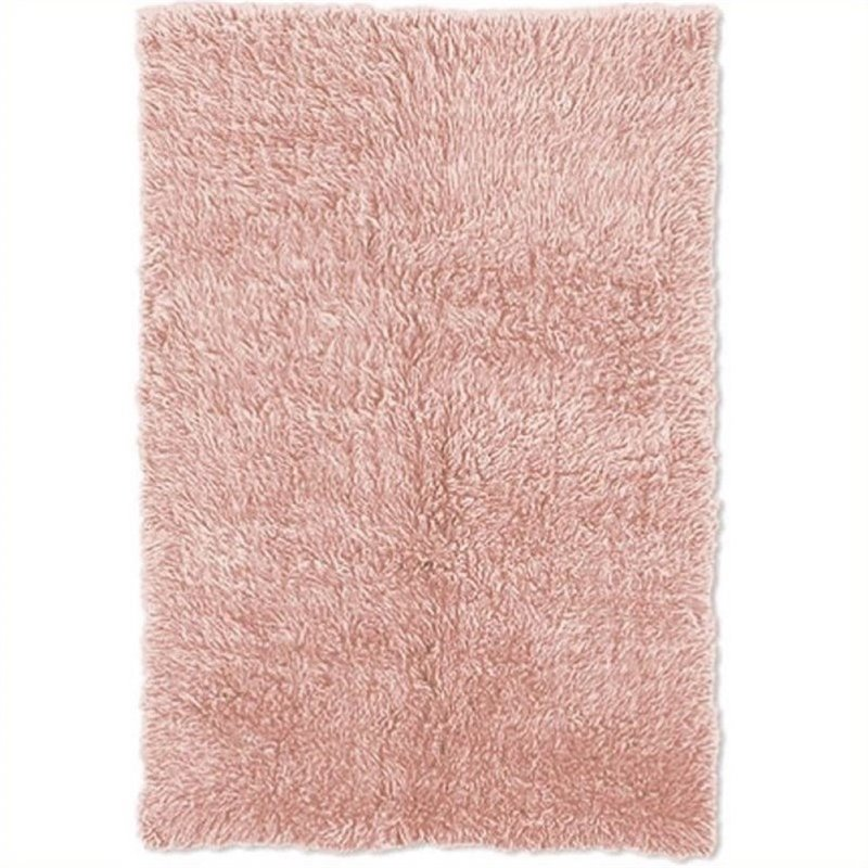 Hawthorne Collection 5' x 8' Hand Woven Area Rug in Pastel Pink