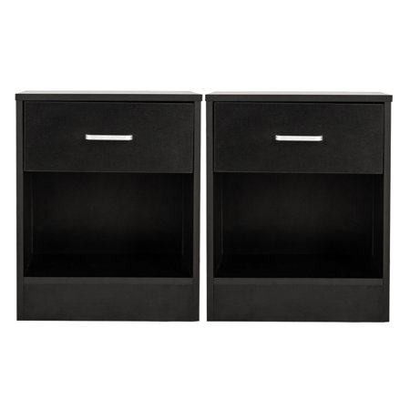 2pcs Bedside Cabinet Convenient Durable High Quality Practical Storage Cabinet Bedside Table