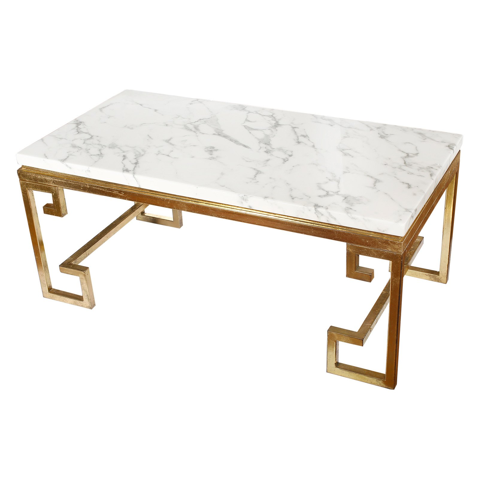 A and B Home Phoenician Nights Marble Coffee Table