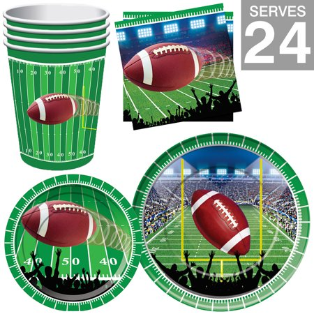 Super Bowl Party Supplies Football Kit - Serves 24 (Football Party Ideas)