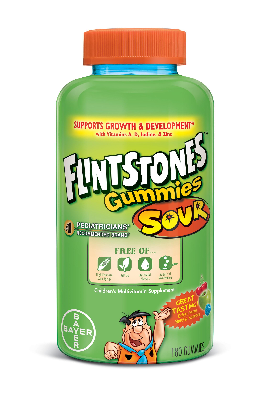Flintstones Childrens Complete Multivitamin Sour Gummies 180 Count Wellness Gummy Kids 30