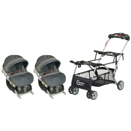 Baby Trend Snap N Go Double With 2 Infant Flex Loc Car Seats Vanguard