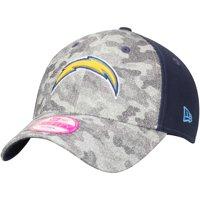 Los Angeles Chargers New Era Women's Glamo Camo 9FORTY Adjustable Hat - Gray/Navy - OSFA