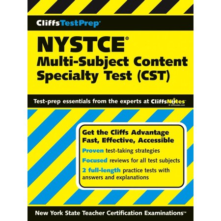 CliffsTestPrep NYSTCE: Multi-Subject Content Specialty Test (CST) - (Specialty Test)