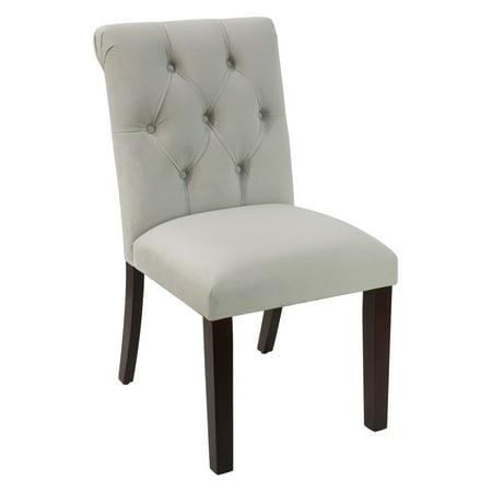 Skyline Furniture Tufted Velvet Rollback Dining Chair ()