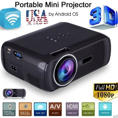 Home Hdmi Projector Full Hd 1080P Home Theater Projector Led Lcd 3D Projector Hdmi 1280X800 Black