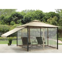 Better Homes & Gardens Canal Drive 11' x 11' Cabin Style Gazebo with Adjustable Side