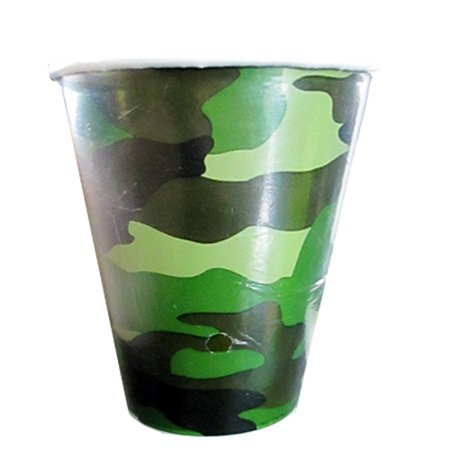 Military Camouflage 9oz Paper Cups (8ct)
