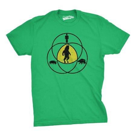 Crazy Dog T-shirts Funny ManBearPig T-Shirt - Man Bear Pig Venn Diagram