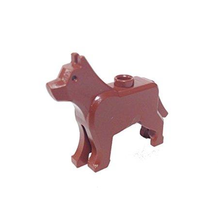 Logo Dog (Brick Building Sets Original LEGO® Parts: Dog Wolf 'The Grim' #48812 (Reddish Brown) )