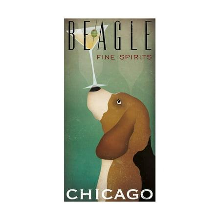 Beagle Martini Print Wall Art By Ryan