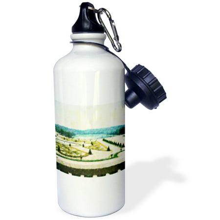 3dRose Versailles Garden, Sports Water Bottle, - Versailles Large Water