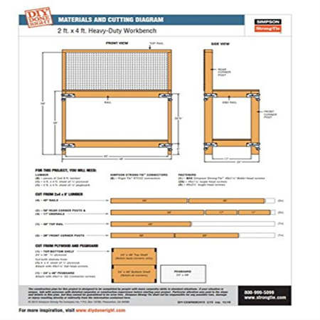 Simpson Strong Tie WBSK Workbench and Shelving Hardware Kit (Simpson Tie Kit)