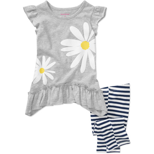 Healthtex Baby Girls' 2-Piece Sharkbite Tunic and Legging Set