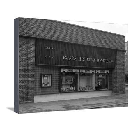 Express Shop (Express Electrical Services Shop Front, Plymouth, Devon, 1961 Stretched Canvas Print Wall Art By Michael)