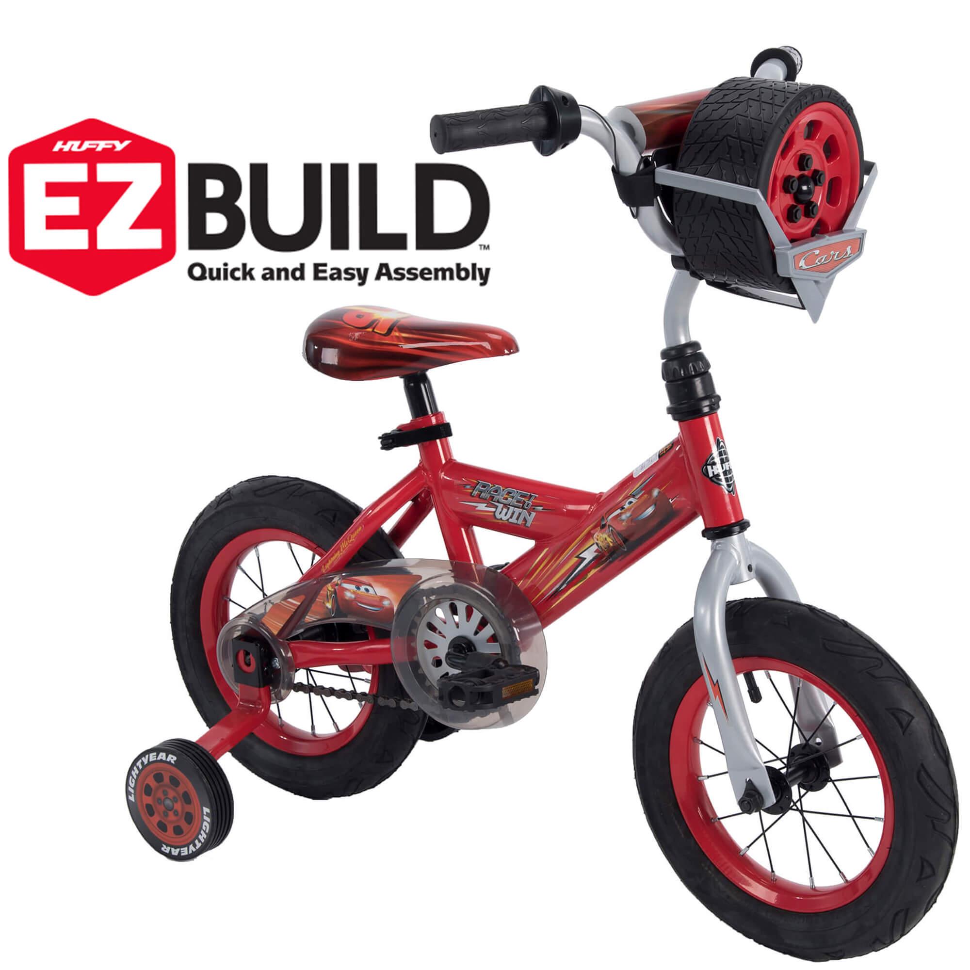 "Huffy 12"" Disney / Pixar Cars Lightning McQueen Kids Bike with Sounds, Red"