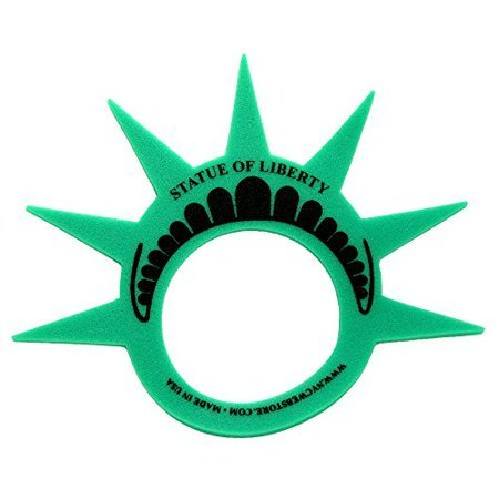 Party Cities Usa (Fun Statue of Liberty Crown Hat Cap and Visor, (MADE in USA), Foam Crown for Costumes and New York City Theme Parties, Fun Statue of Liberty Costume Crown Hat By)