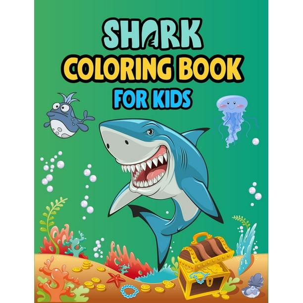 Shark Coloring Book For kids : Cute Shark Coloring Books ...
