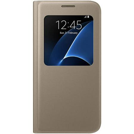 more photos 99b61 1ad7b Samsung Galaxy S7 S-View Flip Cover, Gold