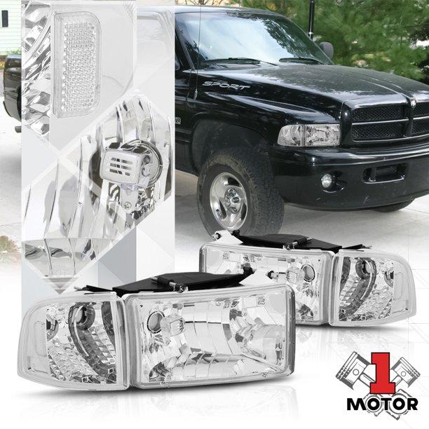 Chrome Housing Headlight Clear Corner Turn Signal Reflector For 94 02 Dodge Ram 95 96 97 98 99 00 01 Walmart Com Walmart Com