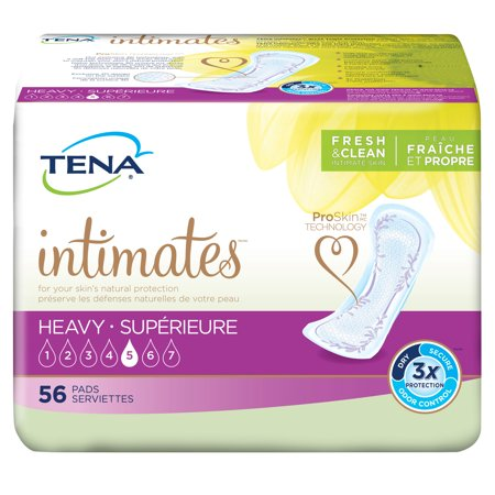Tena Incontinence Pads For Women  Heavy  Regular  56 Count