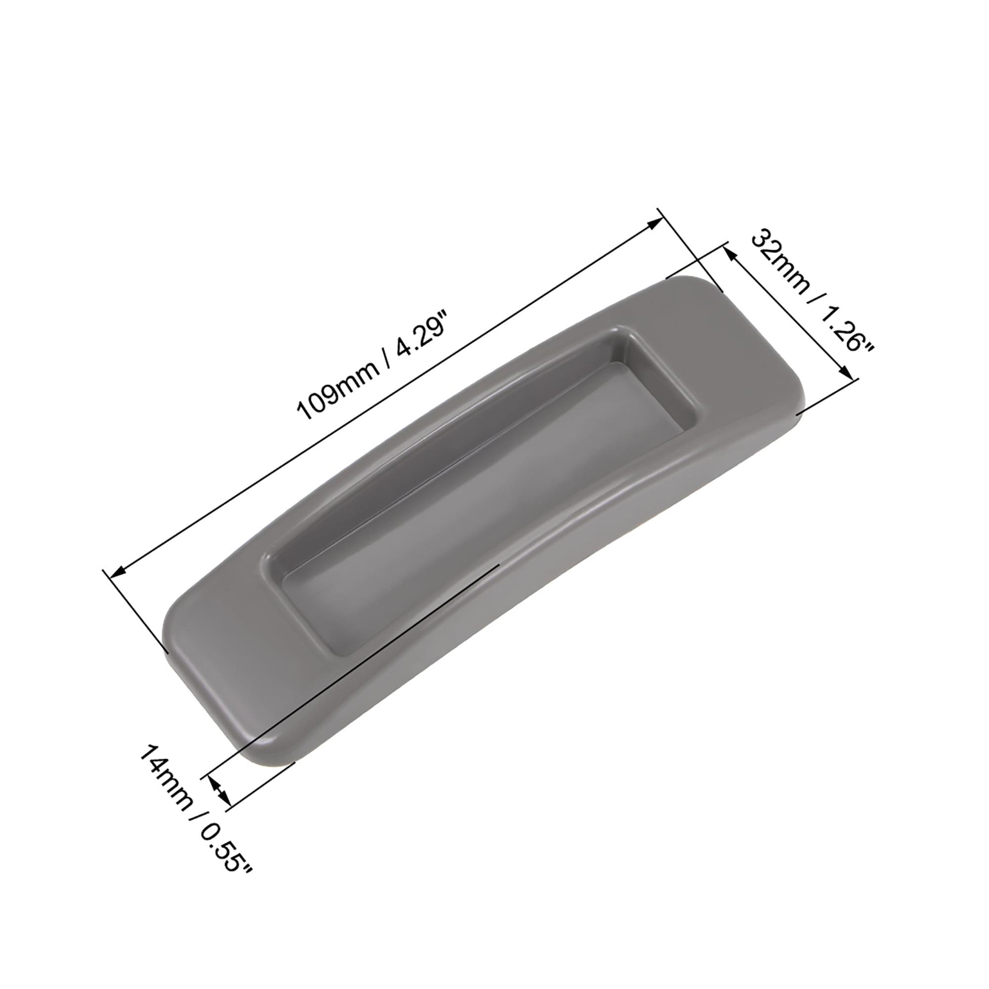 Self-Stick Pull Handle Stick-on Handle for Door Window ABS Plastic Khaki 4 Pairs