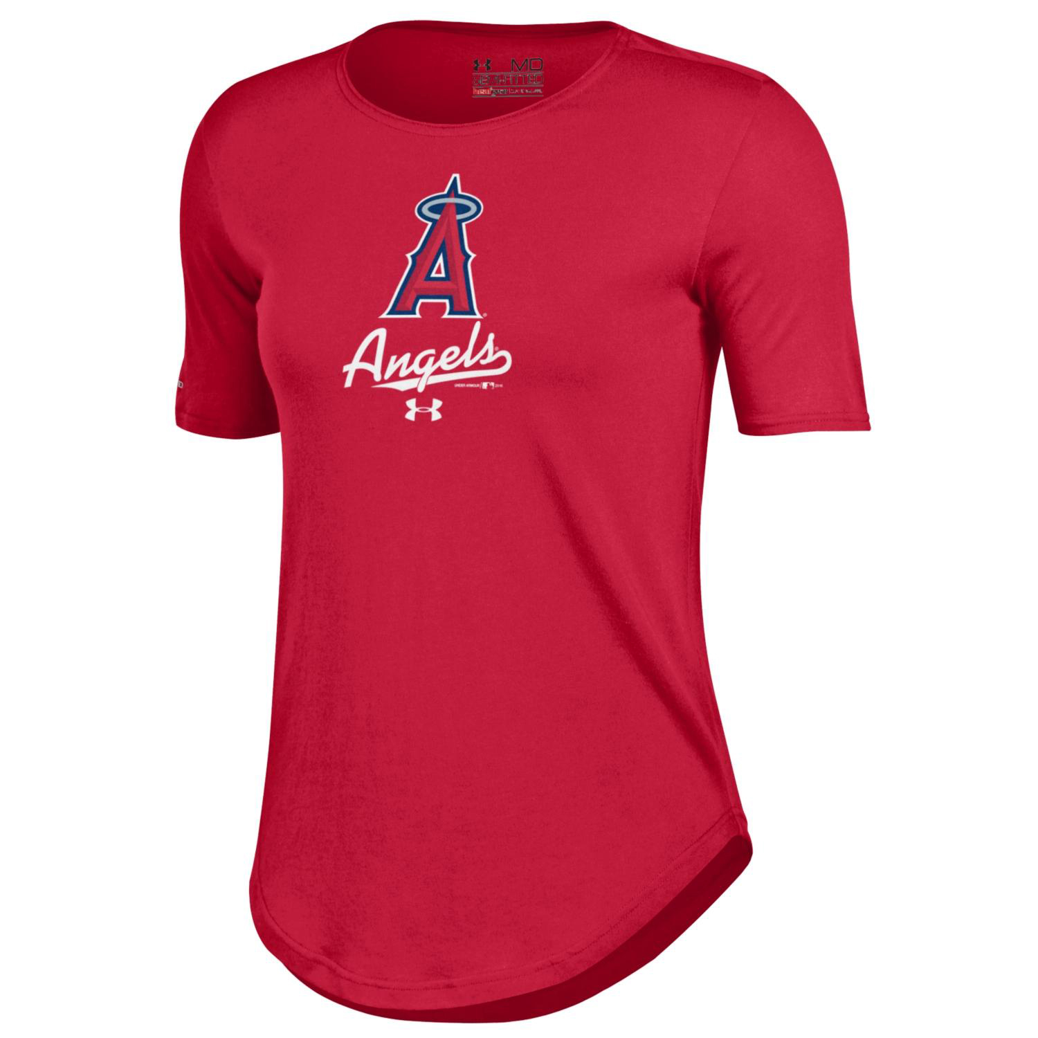Los Angeles Angels Under Armour Women's Crew Performance T-Shirt - Red