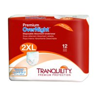 Tranquility Premium OverNight Adult Disposable Absorbent Underwear Heavy Absorbency, XX-Large 62 - 80 In, 12 Ct, 2 Pack
