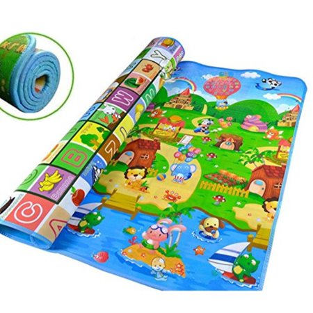 (Carpet Baby Kid Toddler Foam Soft Play Game Mat Carpet Activity Gift Size: 200 x 180cm about 79