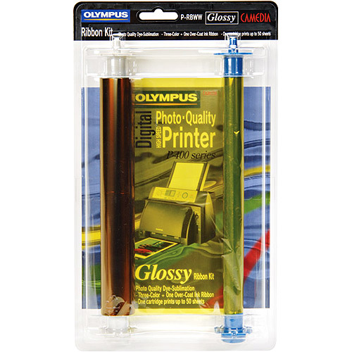 Olympus Prb-w Glossy Color Ribbon - Dye Sublimation - 50 Page - Color (200365)