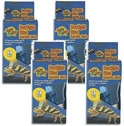 Daylight Blue Incandescent Reptile Bulb 60 Watts (4 Pack) By Zoo Med by