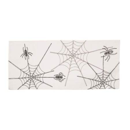 The Holiday Aisle Cloutier Halloween Spider Web Table Runner
