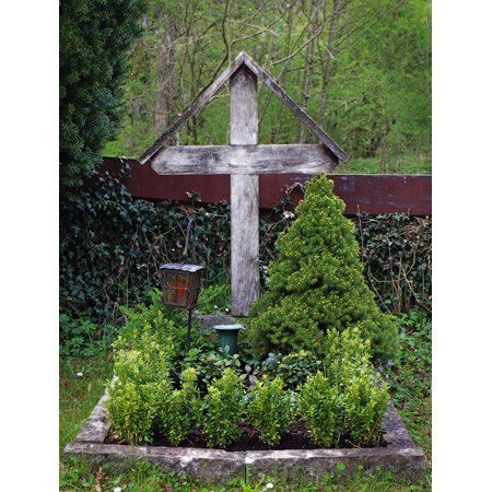 Framed Art For Your Wall Tomb Grave Faith Cemetery Wooden Cross Cross 10x13 Frame