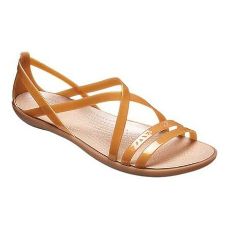 a5a3d0bff4a Crocs - Crocs Women s Isabella Cutout Strappy Ltd Dark Gold   Ankle-High  Sandal - 7M - Walmart.com