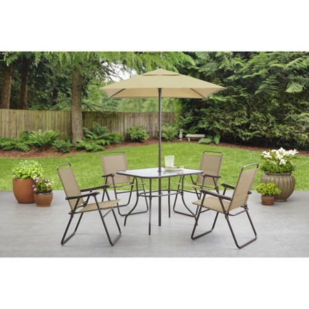 searcy creek 6 piece folding outdoor dining set