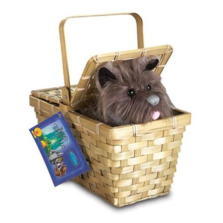 Toto With Basket Deluxe Web - Crochet Halloween Basket