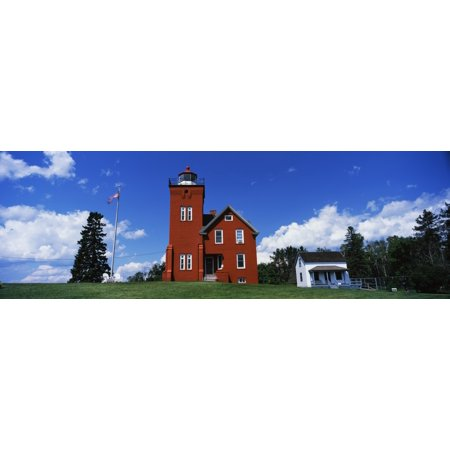 Two Harbors Lighthouse on Lake Superiors Agate Bay Burlington Bay Minnesota USA Poster Print by Panoramic Images