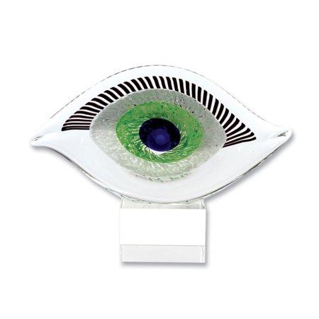 Badash Visionary Good Luck Murano Style Art Glass Eye Sculpture