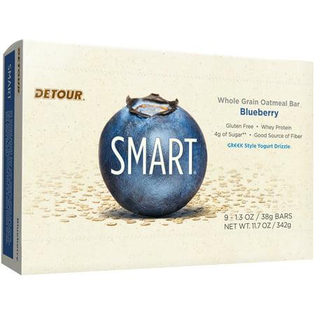 Fangtasia True Bar (Detour SMART Bar, Blueberry, 10g Protein, 9 Ct )