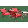Mainstays Stanton 4-Piece Patio Furniture Conversation Set, Red, Metal