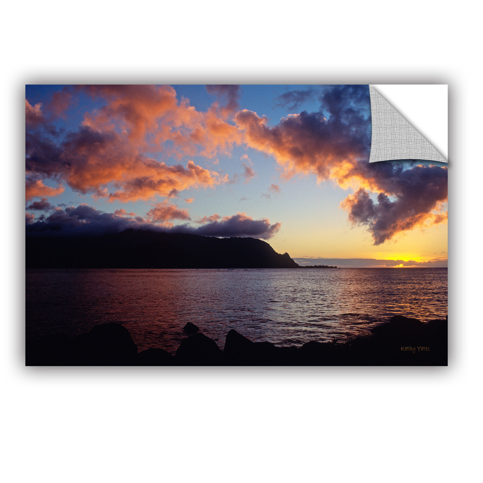 'Last Light Over Bali Hai' Removable Wall Art Mural