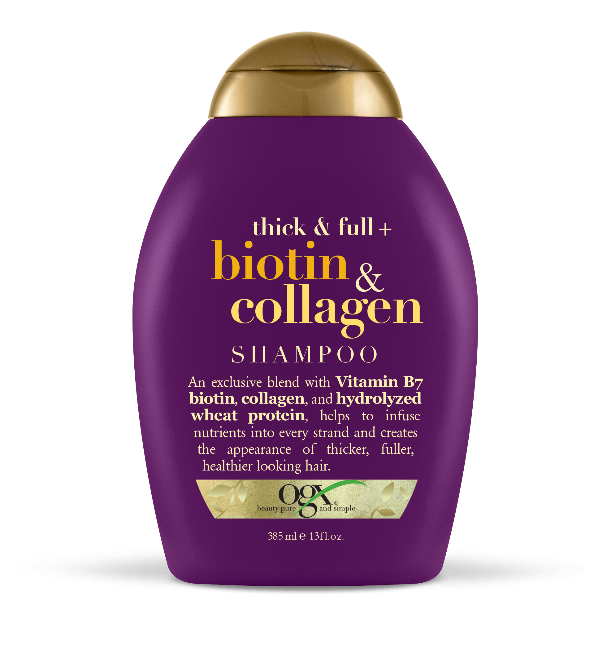 OGX Thick & Full Biotin & Collagen Shampoo, 13 FL OZ