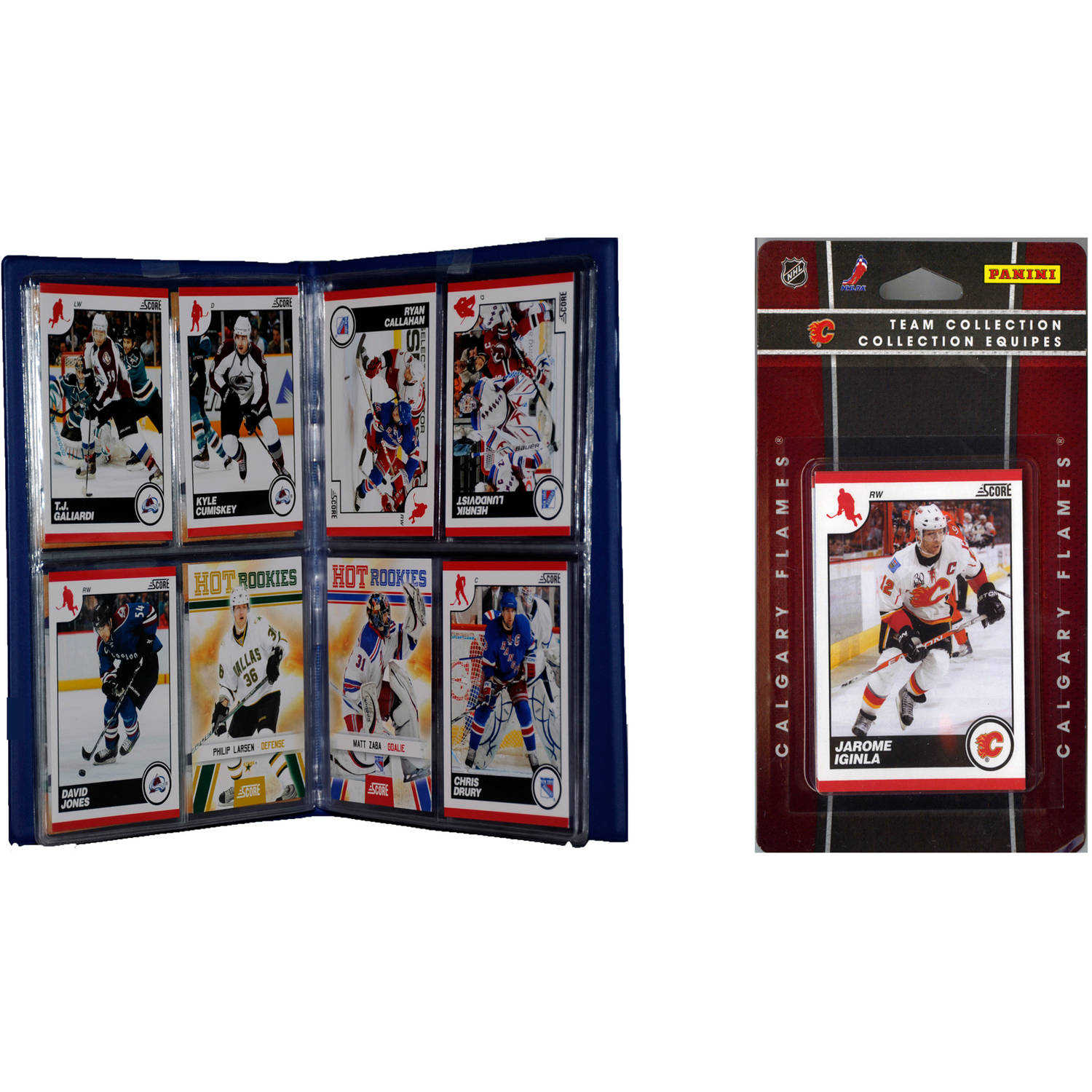 C&I Collectables NHL Calgary Flames Licensed 2010 Score Team Set and Storage Album