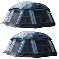 Tahoe Gear Ozark 16-Person 3-Season Large Family Cabin Tent, Blue (2 Pack)