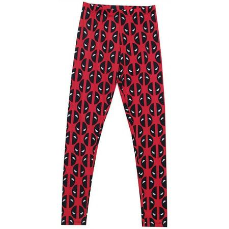 7b0315cdd7 Marvel - Deadpool Eyes Reversed Women's Leggings- Slim Small - Walmart.com